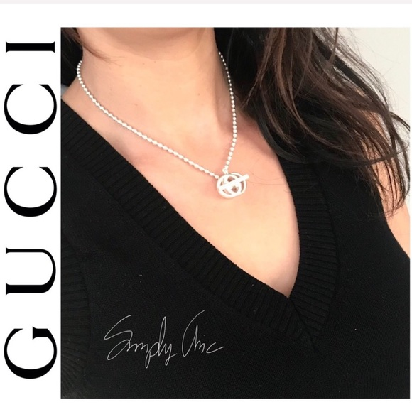 BRAND NEW authentic GUCCI Britt Double G necklace